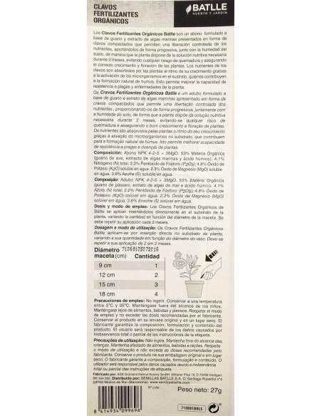 Fertilizante Ecológico 30 barritas Semillas Batlle - 2