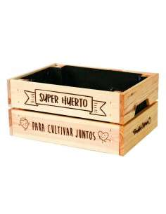 "Caja Huerto ""Cultivar Juntos"" 23x31xh15"